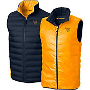 Columbia Men's West Virginia Mountaineers Blue Lake 22 Reversible Vest
