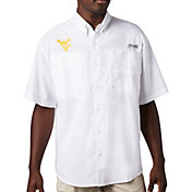 Columbia Men's West Virginia Mountaineers Tamiami Performance White Shirt