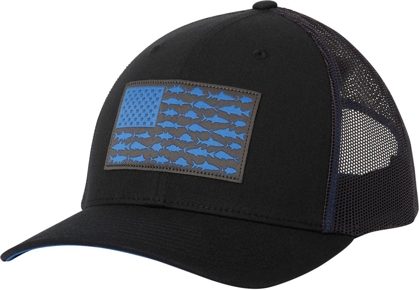 Columbia Men's PFG Mesh Snapback Fish Flag Hat