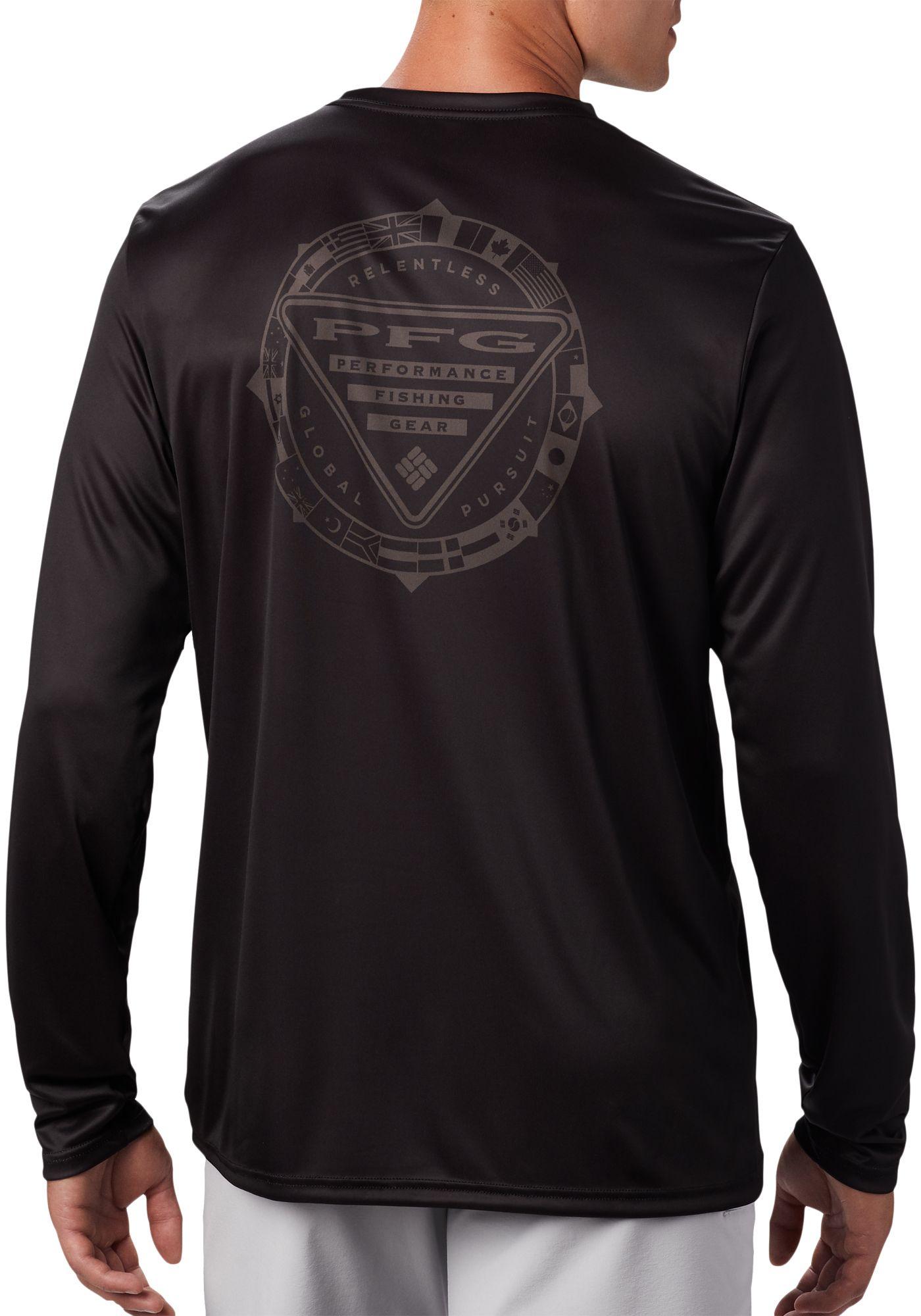 Columbia Men's Terminal Tackle PFG Global Compass Long Sleeve Shirt
