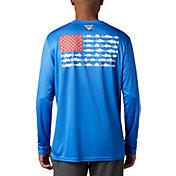 Columbia Men's Terminal Tackle PFG Fish Flag Long Sleeve Shirt