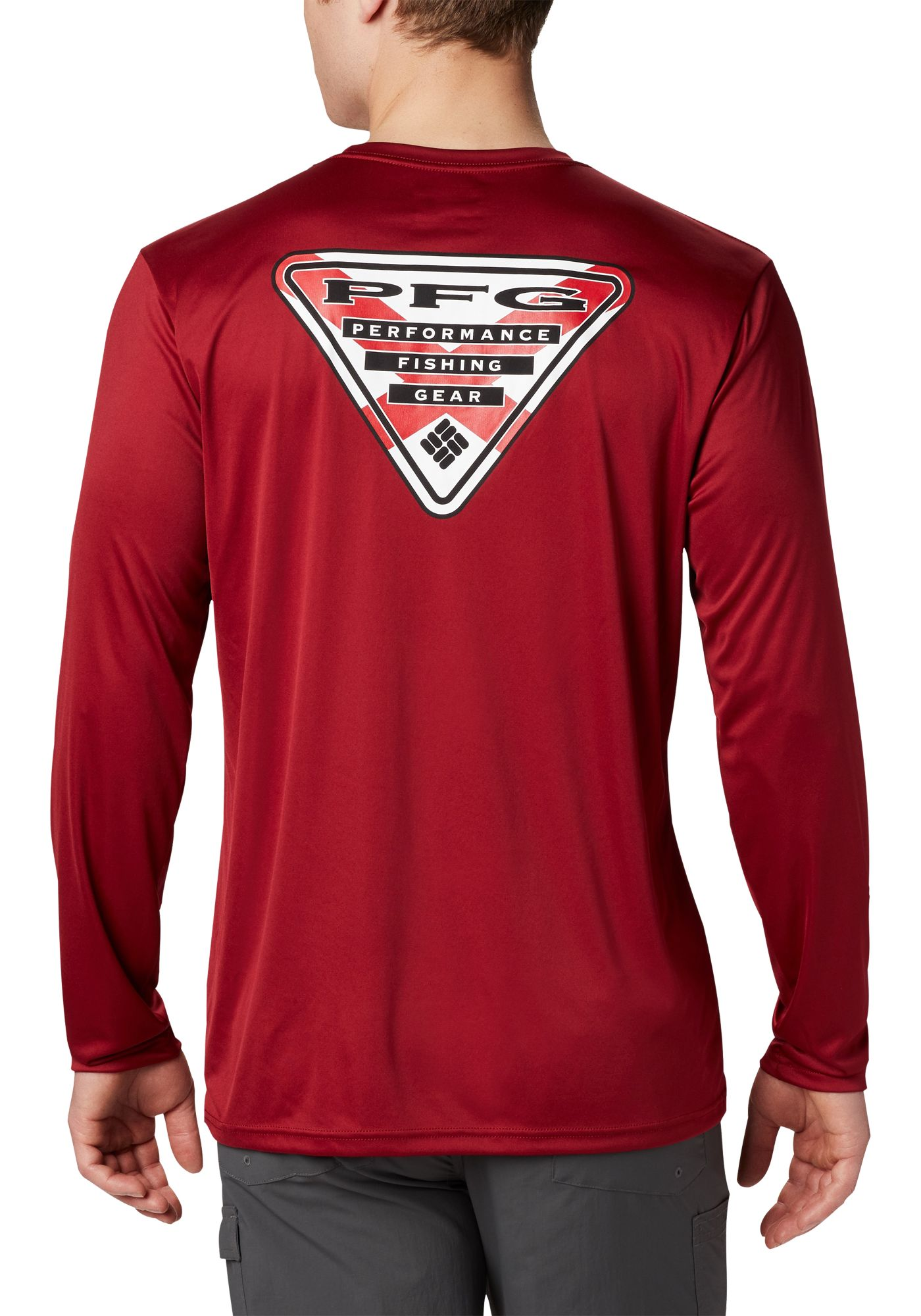 Columbia Men's Terminal Tackle PFG State Triangle Long Sleeve Shirt