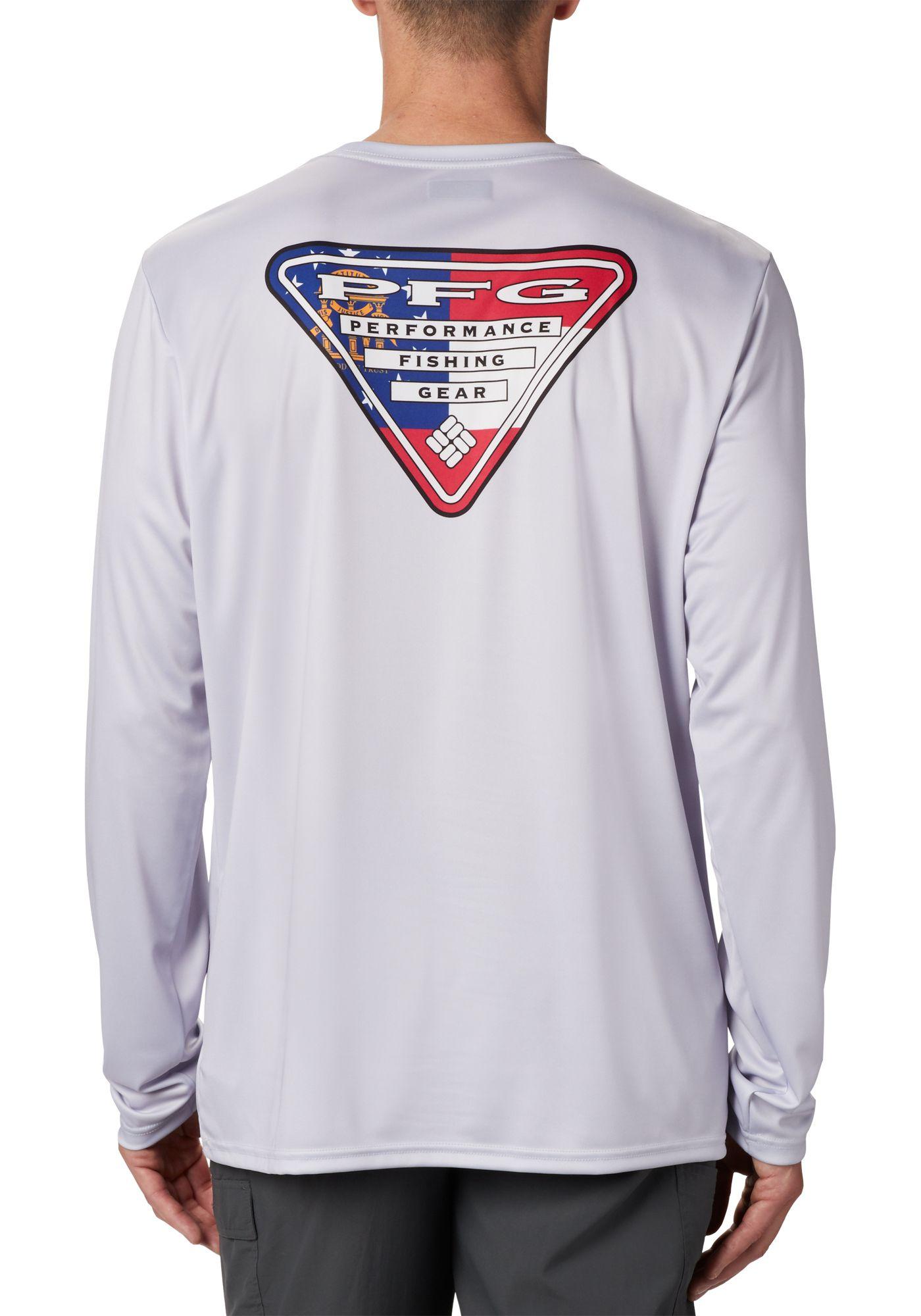 Columbia Terminal Tackle PFG State Triangle Long Sleeve Shirt (Regular and Big & Tall)