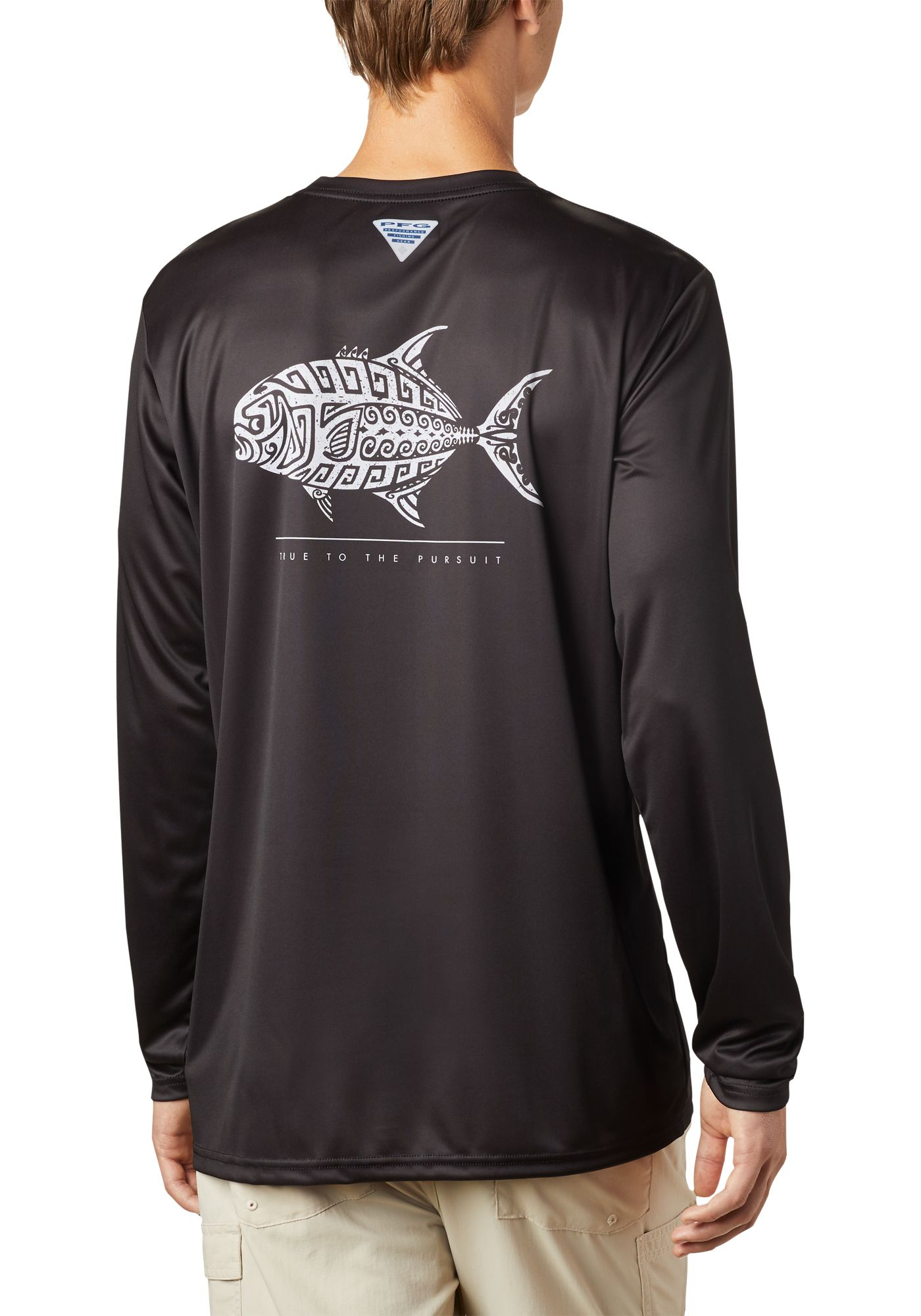 Columbia Men's Terminal Tackle PFG Tribal Fish Long Sleeve Shirt