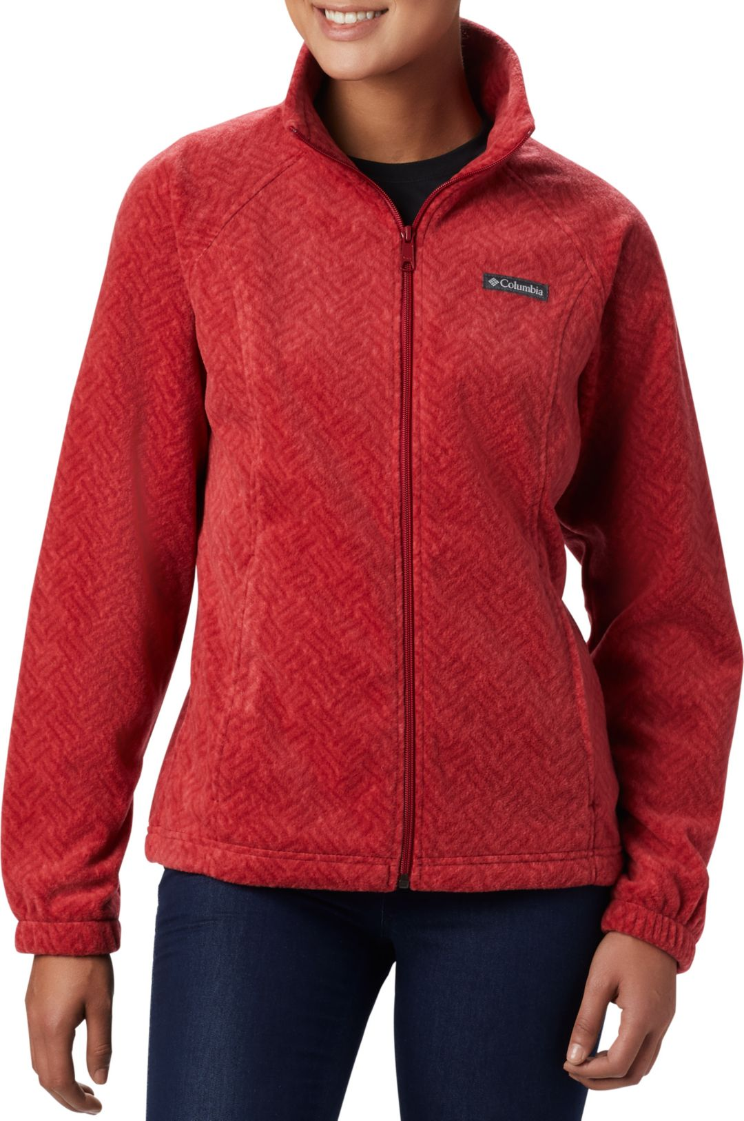 428927246 Columbia Women's Benton Springs Print Full Zip Fleece Jacket