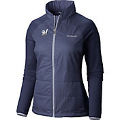 Columbia Women's Milwaukee Brewers Navy Match 38 Full-Zip Jacket