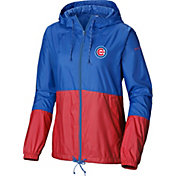 Columbia Women's Chicago Cubs Blue Flash Forward Windbreaker