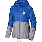 Columbia Women's Los Angeles Dodgers Dodger Blue Flash Forward Windbreaker