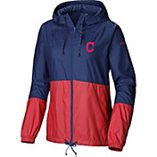 Columbia Women's Cleveland Indians Red Flash Forward Windbreaker