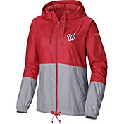Columbia Women's Washington Nationals Red Flash Forward Windbreaker