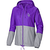 Columbia Women's Colorado Rockies Purple Flash Forward Windbreaker