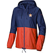 Columbia Women's Houston Astros Navy Flash Forward Windbreaker