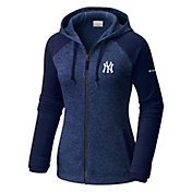 Columbia Women's New York Yankees Blue Darling Days Full-Zip Hoodie