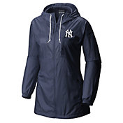 Columbia Women's New York Yankees Blue Flashback Full-Zip Jacket