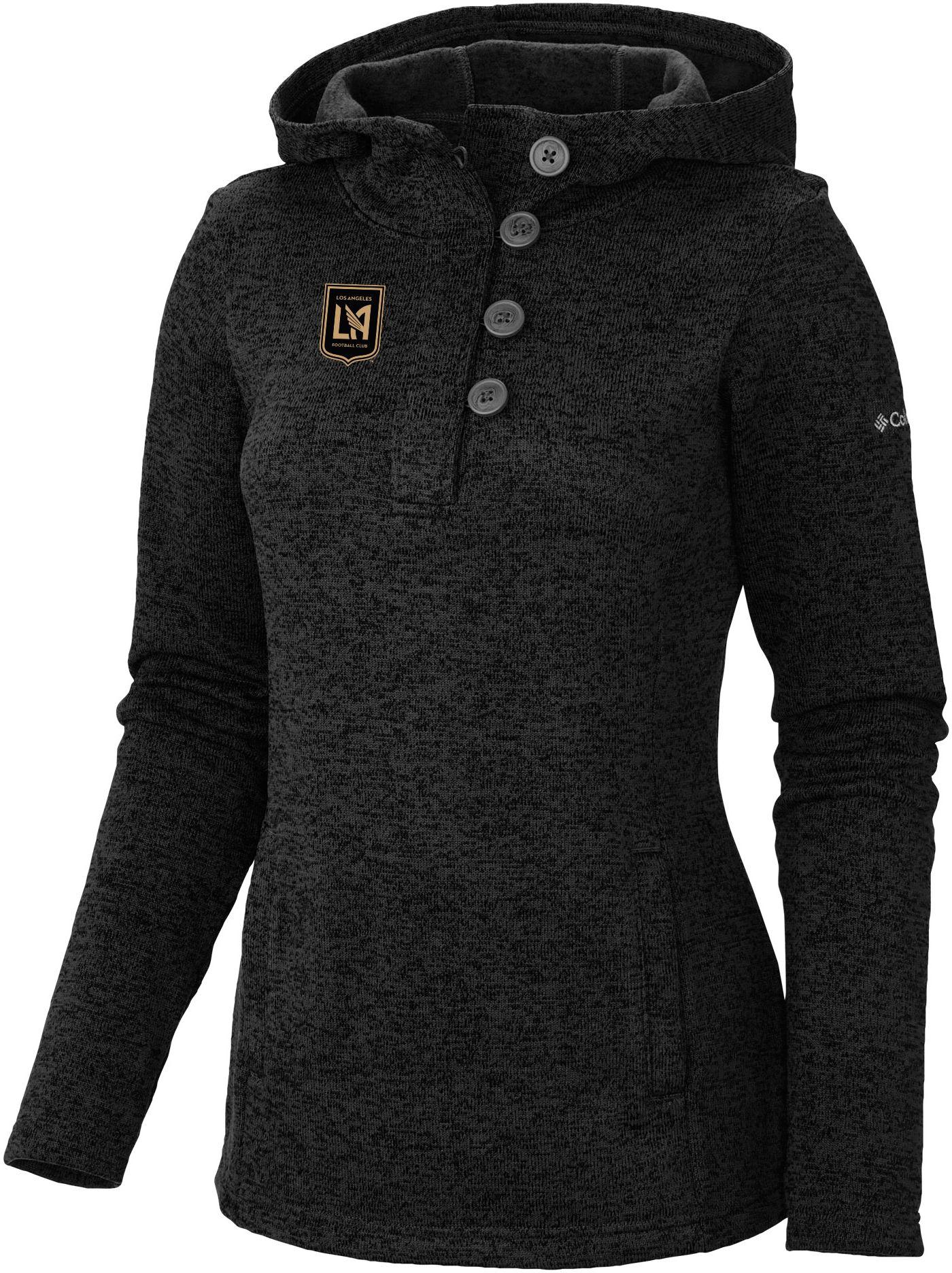 Columbia Women's Los Angeles FC Darling Days Black Heathered Pullover Sweatshirt
