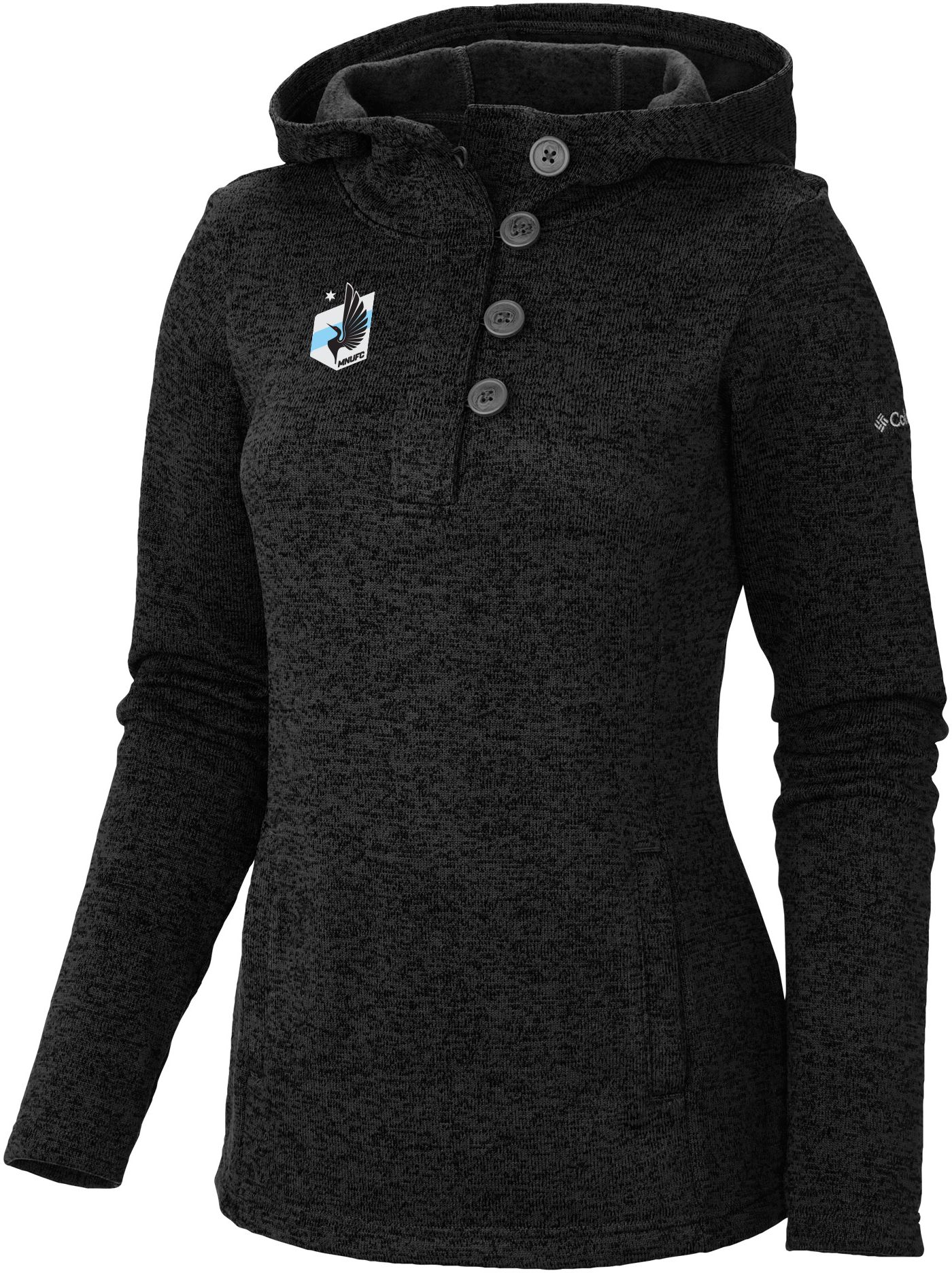 Columbia Women's Minnesota United FC Darling Days Black Heathered Pullover Sweatshirt