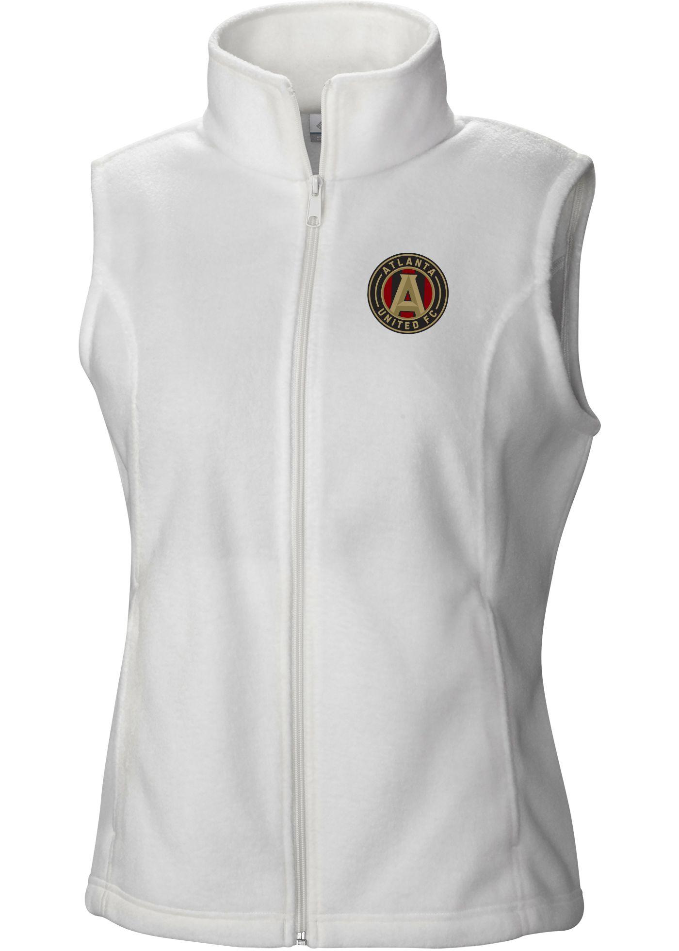 Columbia Women's Atlanta United Benton Springs White Full-Zip Vest