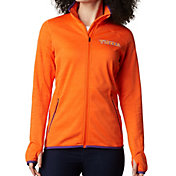 Columbia Women's Clemson Tigers Orange Sapphire Trail Full-Zip Jacket