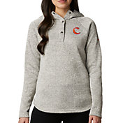 Columbia Women's Clemson Tigers White Darling Days Half-Snap Hoodie