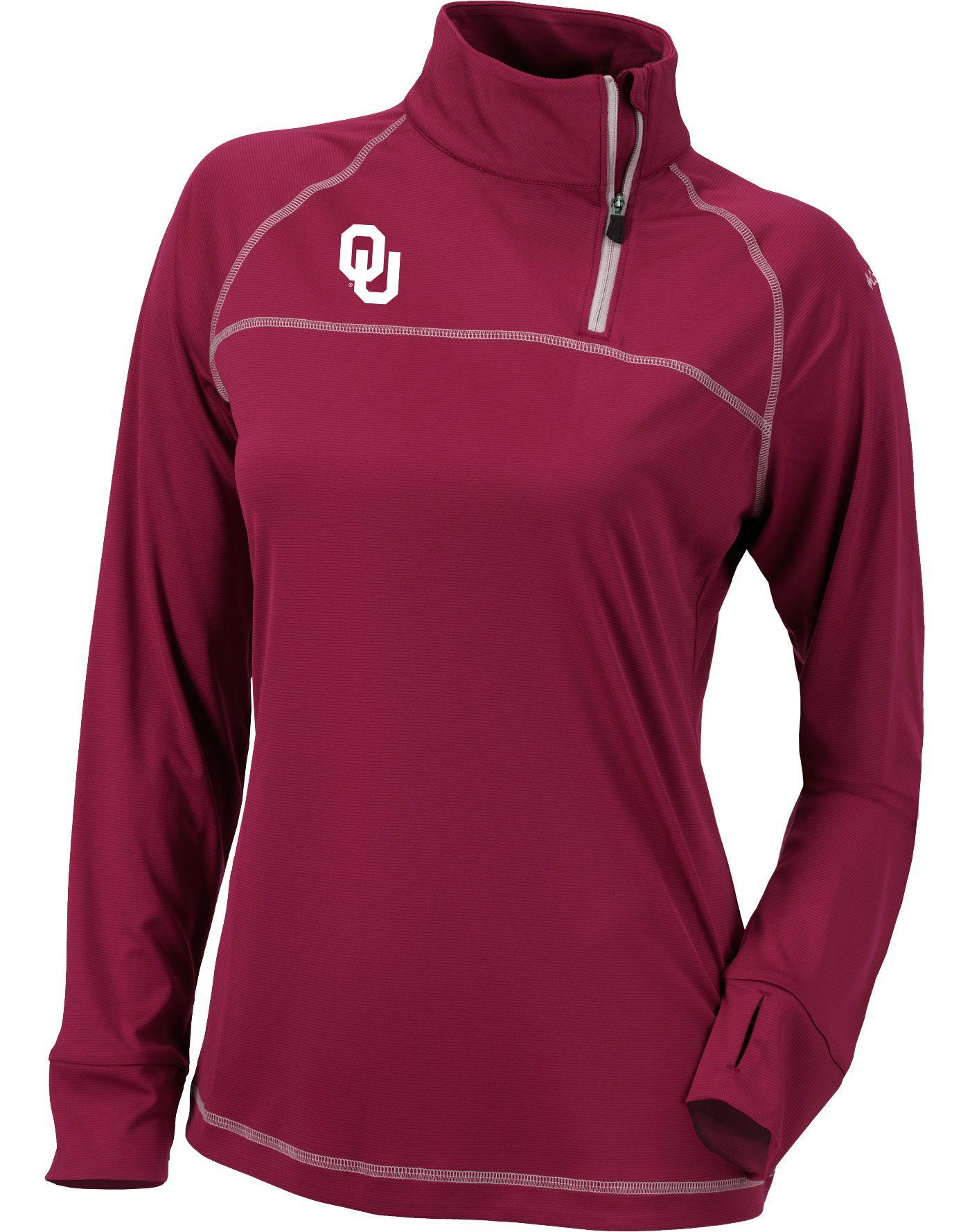 Columbia Women's Oklahoma Sooners Crimson New Classic Quarter-Zip Shirt