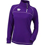 Columbia Women's Kansas State Wildcats Purple New Classic Quarter-Zip Shirt