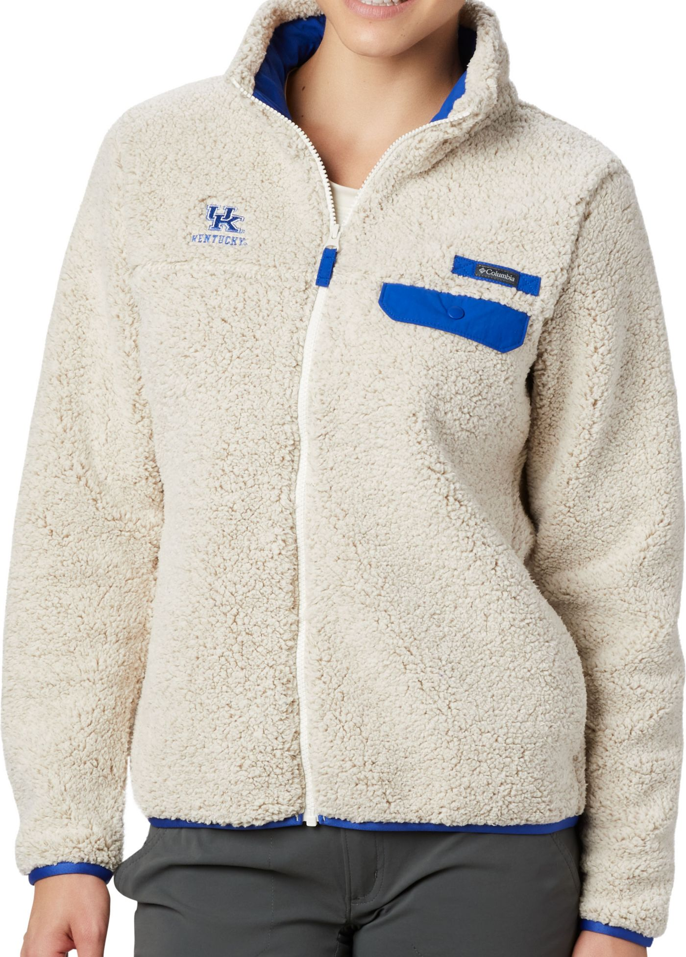 Columbia Women's Kentucky Wildcats Grey Mountain Side Heavyweight Full-Zip Jacket