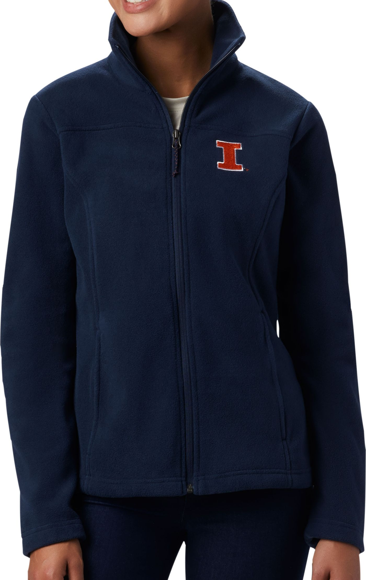 Columbia Women's Illinois Fighting Illini Blue Give & Go Full-Zip Jacket