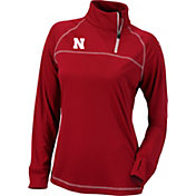 Columbia Women's Nebraska Cornhuskers Scarlet New Classic Quarter-Zip Shirt