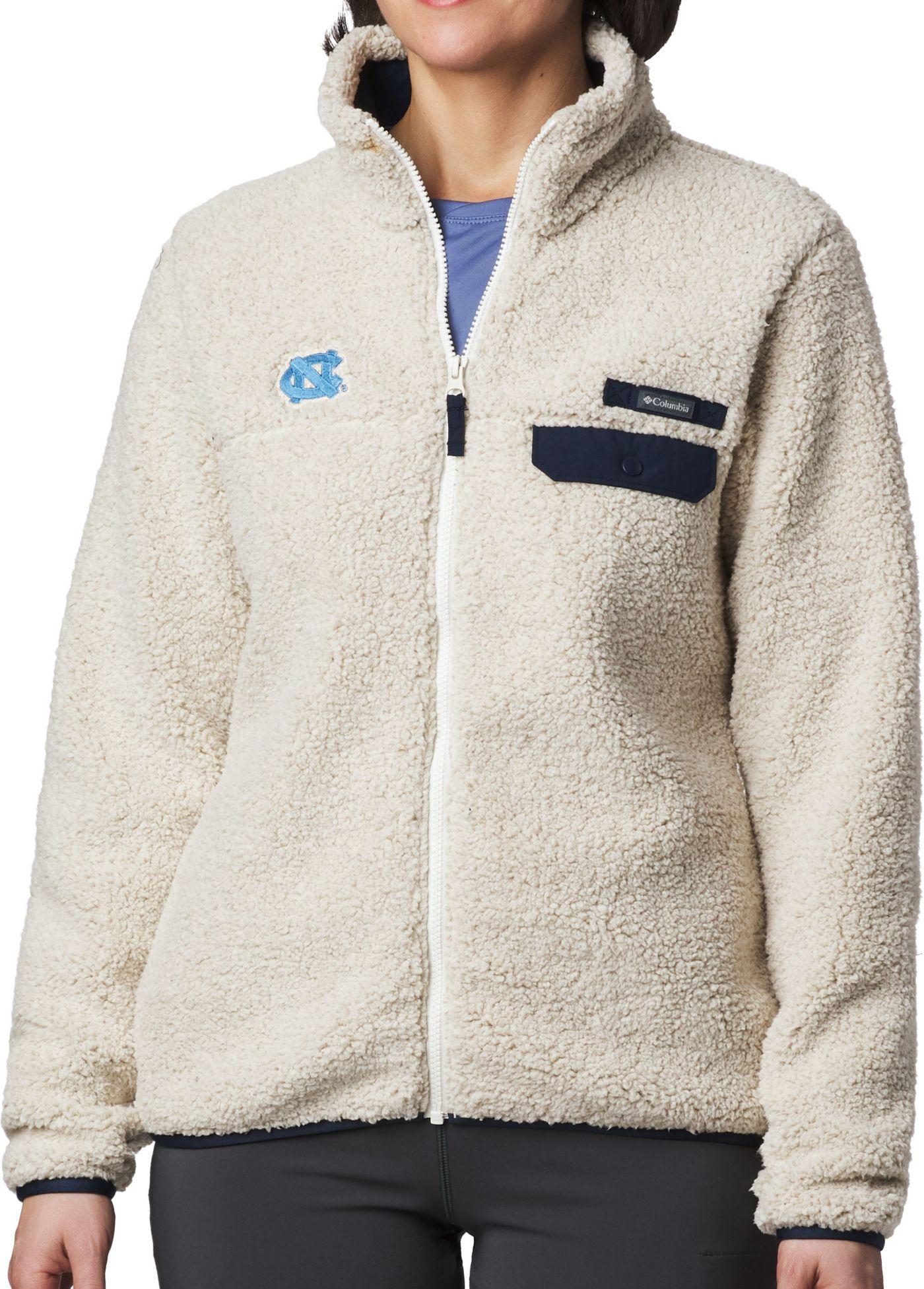Columbia Women's North Carolina Tar Heels Mountainside Full-Zip White Jacket