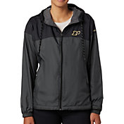 Columbia Women's Purdue Boilermakers CLG Flash Forward Lined Black Jacket