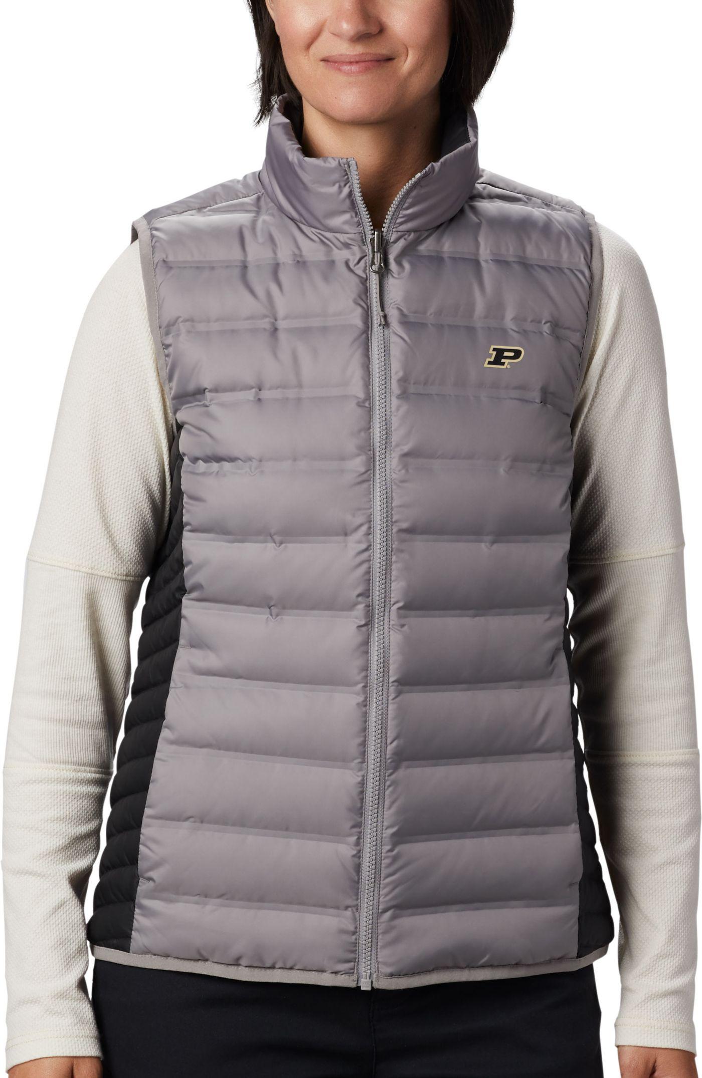 Columbia Women's Purdue Boilermakers Grey Lake 22 Reversible Full-Zip Vest