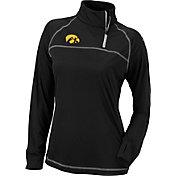 Columbia Women's Iowa Hawkeyes New Classic Quarter-Zip Black Shirt