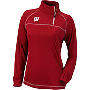 Columbia Women's Wisconsin Badgers Red New Classic Quarter-Zip Shirt