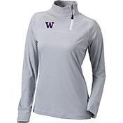 Columbia Women's Washington Huskies Grey New Classic Quarter-Zip Shirt