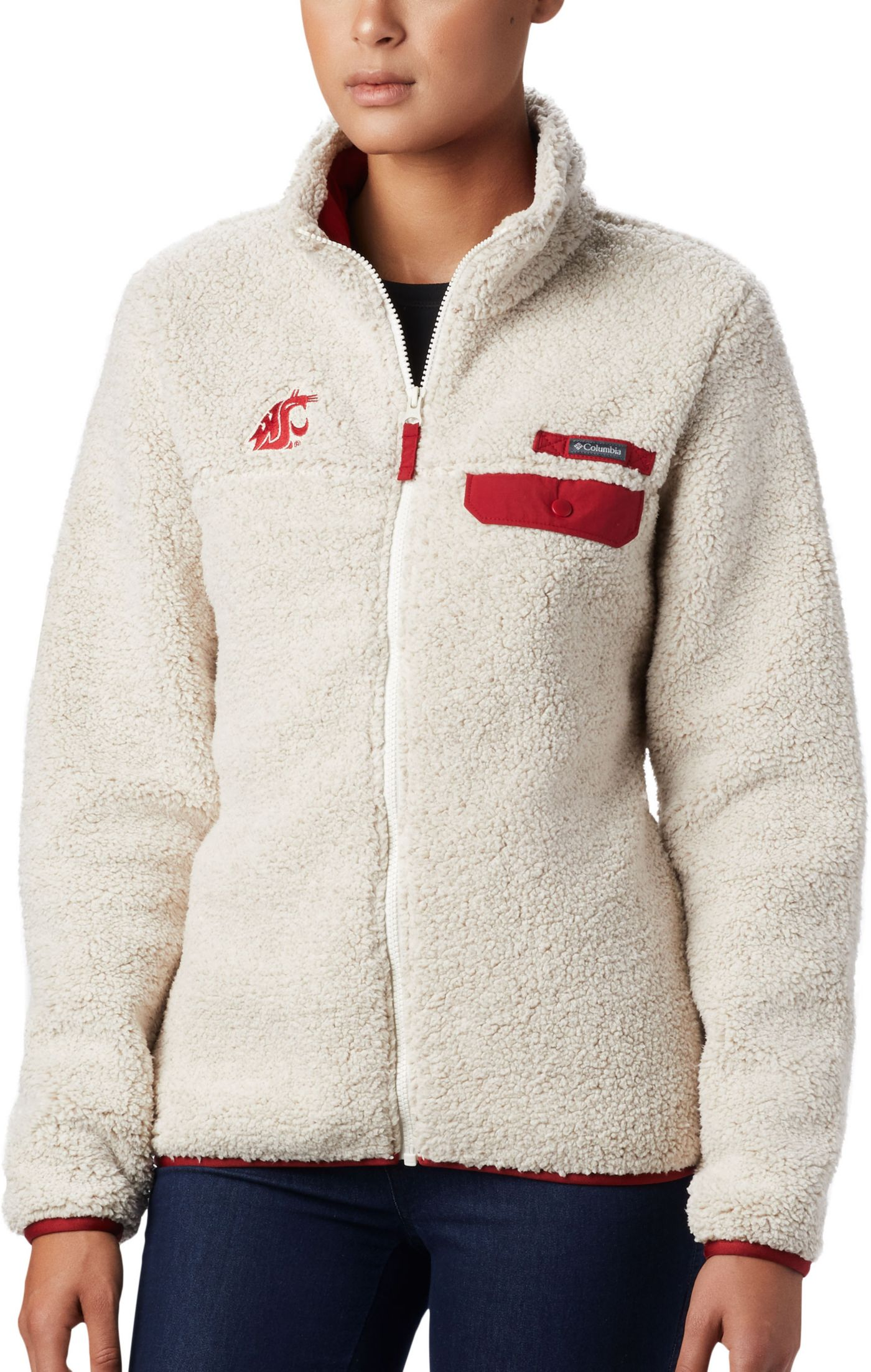 Columbia Women's Washington State Cougars Mountainside Full-Zip White Jacket