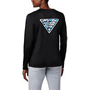 Columbia Women's Tidal PFG Printed Triangle Long Sleeve T-Shirt