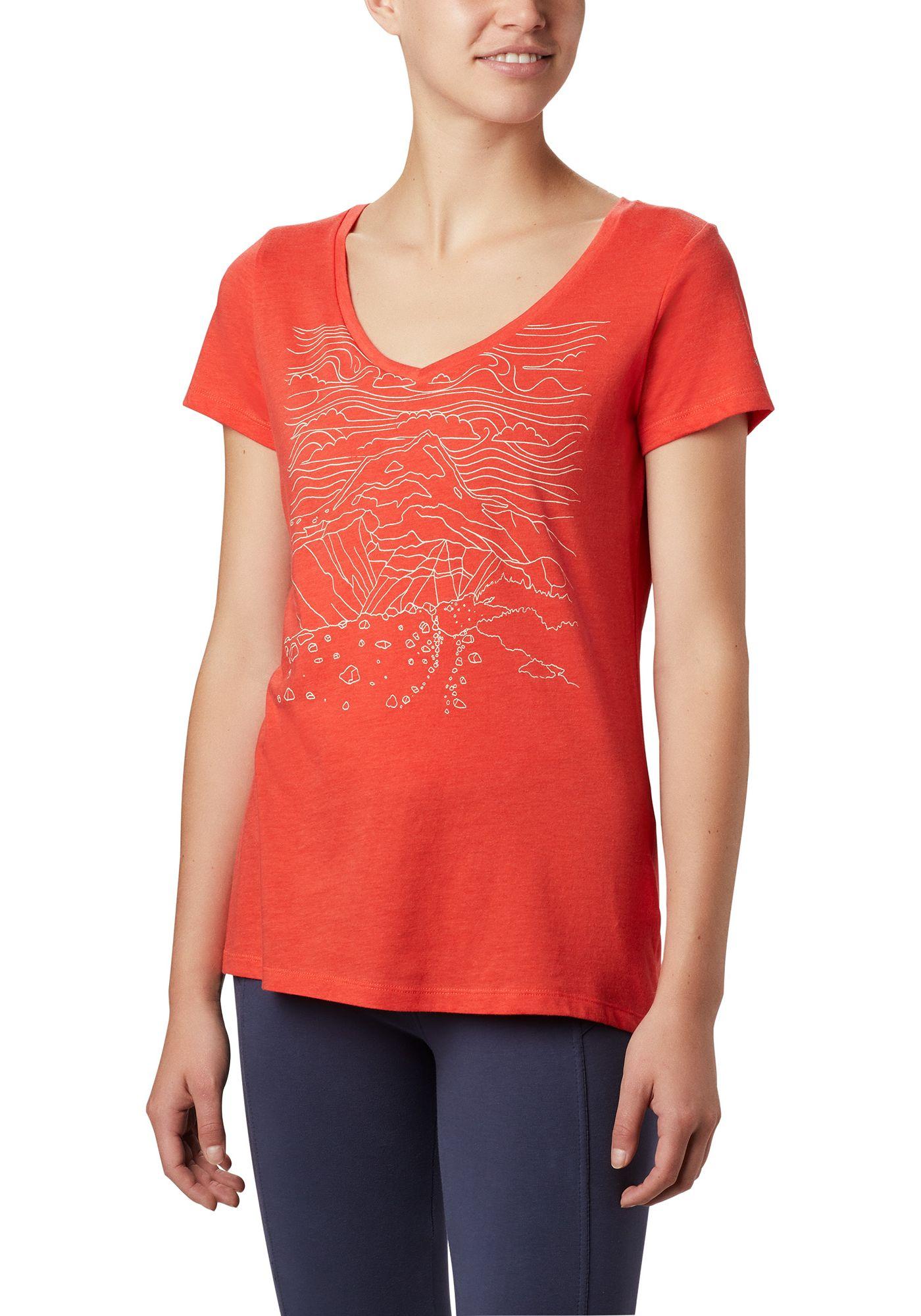 Columbia Women's Hidden Lake Graphic V-Neck T-Shirt
