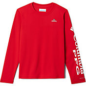 Columbia Youth Georgia Bulldogs Red Terminal Tackle Long Sleeve T-Shirt