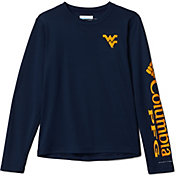 Columbia Youth West Virginia Mountaineers Blue Terminal Tackle Long Sleeve T-Shirt