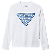 Columbia Boys' Terminal Tackle Triangle Fill Long Sleeve Fishing Shirt