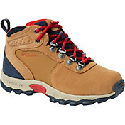 Columbia Kids' Newton Ridge Suede Waterproof Hiking Boots