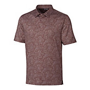 Cutter & Buck Men's Forge Paisley Heather Print Golf Polo