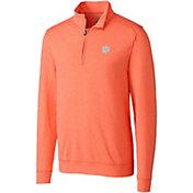 Cutter & Buck Men's Clemson Tigers Orange Shoreline Half-Zip Shirt