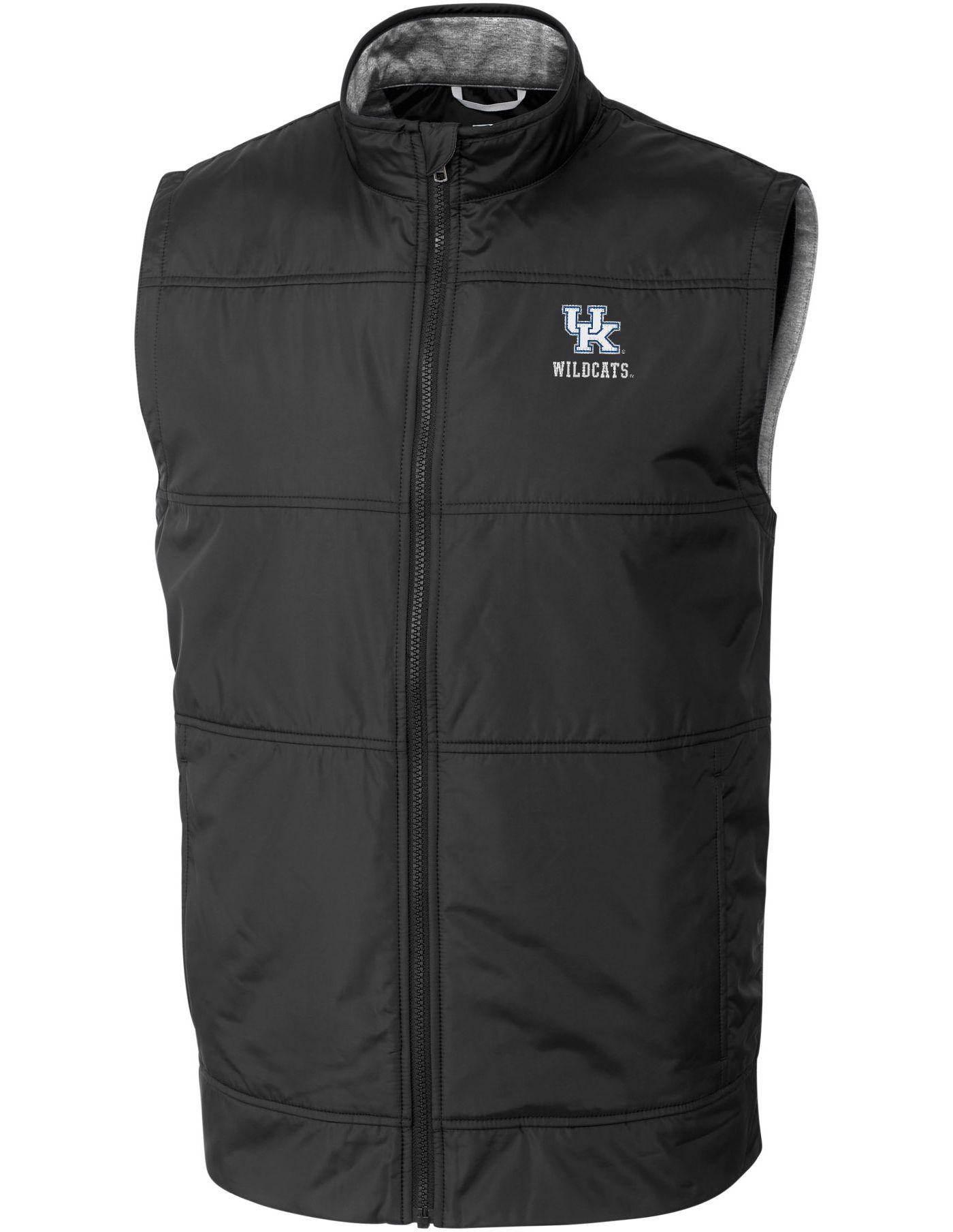 Cutter & Buck Men's Kentucky Wildcats Stealth Full-Zip Black Vest