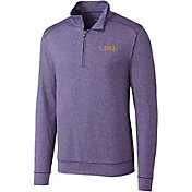 Cutter & Buck Men's LSU Tigers Purple Shoreline Half-Zip Shirt