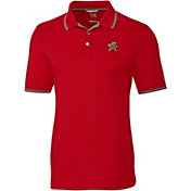 Cutter & Buck Men's Maryland Terrapins Red Advantage Tipped Polo
