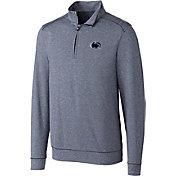 Cutter & Buck Men's Penn State Nittany Lions Blue Shoreline Half-Zip Shirt