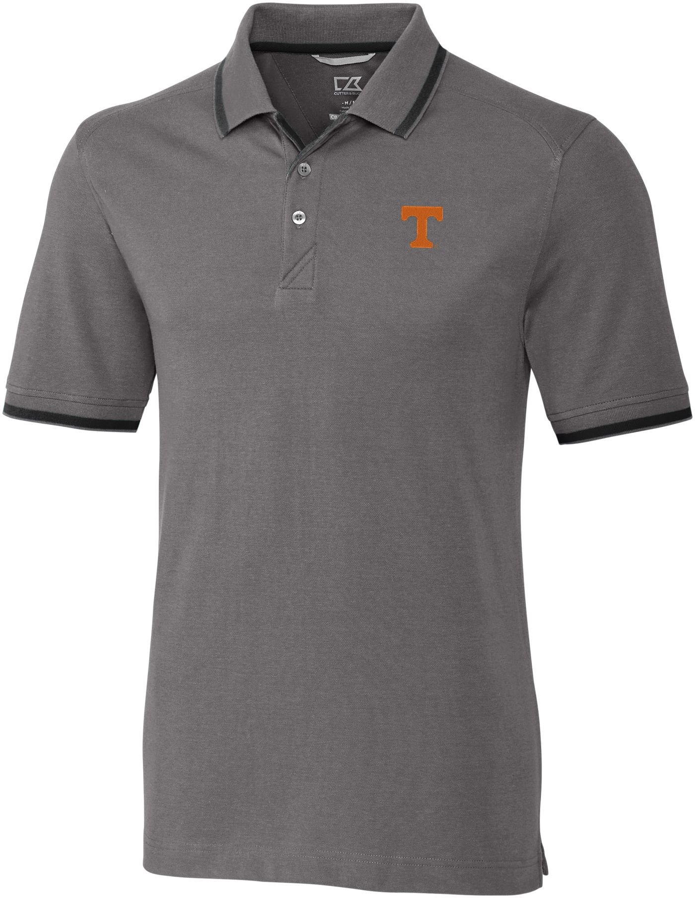 Cutter & Buck Men's Tennessee Volunteers Grey Advantage Tipped Polo