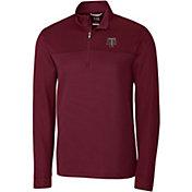 Cutter & Buck Men's Texas A&M Aggies Maroon Traverse Stripe Half-Zip Shirt