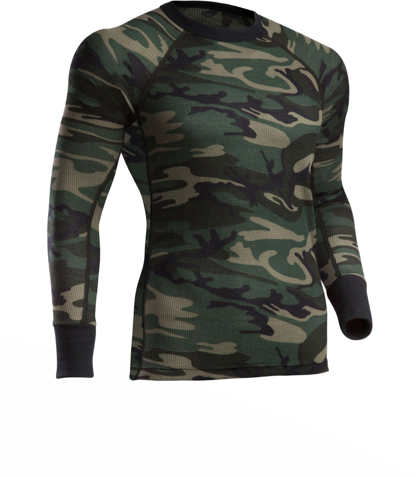 ColdPruf Men's Woodland Camo Thermal Top